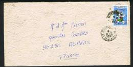 1990  Lettre Pour La France Jeux Des Iles De L'Océan Indien - Madagascar (1960-...)