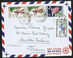 Lettre Avion Pour La France Yv 302, 303 X 2, 324 - Briefe U. Dokumente