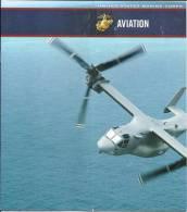 Militaria brochure aviation - USA United States Marine Corps / avion de chasse, helicoptere / document recrutement