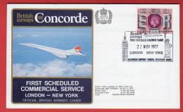 Pli Concorde - British Airways - First Scheduled Commercial Service London-New York - 22/11/1977 - Concorde