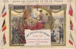 UNION DES SOCIETES DE TIR DE FRANCE  1916 CARTE PUBLICITAIRE - Waffenschiessen