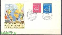 Vatican 1967 Mi 531-532a FDC - Symbol - Christianisme