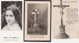"""3 Images Religieuses - Une Croix De Jérusalem - Une Autre Croix """"ton Souvenir Sera Impérissable-3ème Ste Thérèse - Images Religieuses"""