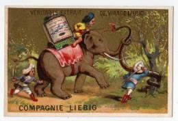 Chromo Liebig Dorée S 123 Testu & Massin Aventure D´un éléphant Lutte Combat Serpent Géant Soldat Cornac Attaque Animal - Liebig
