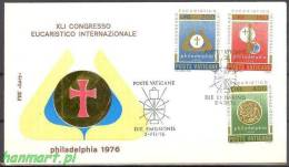 Vatican 1976 Mi 680-682 FDC - Symbol - Christianisme
