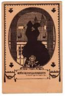 SILHOUETTE A COUPLE Nr. 339 OLD POSTCARD 1929. - Silhouette - Scissor-type
