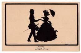 "SILHOUETTE ""I FOUND YOU"" GOETHE M.M. BEHRENS Nr. 1156 OLD POSTCARD - Silhouette - Scissor-type"