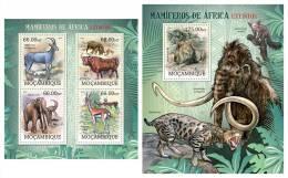 MOZAMBIQUE 2012 - Extinct Mammals Of Africa. M/S + S/S Official Issue - Postzegels