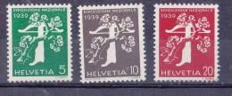Suisse N° 333-334-335** Neuf Sans Charniere - Suisse