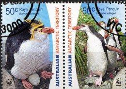 Australian Antarctic 2007 Endangered Species 50c Royal Penguin Se-tenant Pair CTO - Used Stamps