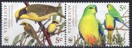 Australia 1998 Endangered Birds 5c Pair Mint No Gum - Gebruikt