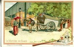 Chocolat Guerin Boutron  Série Moyen De Transports N°53 La Voiture De Glace - Guerin Boutron