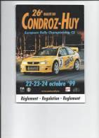 RALLYE -Rallye Du Condroz - Huy - Règlement 1999 - Automobile - F1