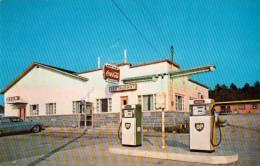 Baie Des Sables Québec - Matane - Hotel Motel Restaurant Au Martinet - BP Gas Station - 2 Scans - Quebec