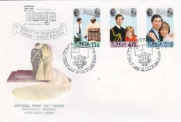 Tonga 1981 Royal Wedding  FDC - Tonga (1970-...)