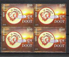 INDIA, 2011, 100 Years Of Doot, Periodical, Block Of 4, MNH, (**) - Inde