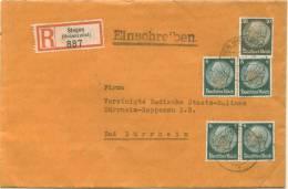 PERFIN FIRMENLOCHUNG 1939 Einschreiben Singen Hohentwiel  M = Vermutlich MAGGI - Deutschland