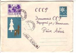 GOOD ROMANIA Postal Cover To ESTONIA 1968 - With Original Stamp - Christmas - Covers & Documents