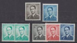 Belgium Baudouin Mi#1196/7,1437x/y,973/5 1960 MNH ** - Belgique