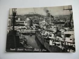 Nave Ship Sobieski Gdynia Napoli Stazione Marittima E Castel S. Elmo - Handel