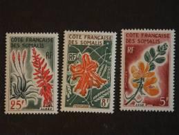 Somaliland Côte Des Somalis 1966 Fleurs Bloemen  Yv 325-327 MNH ** - Planten