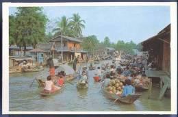 Thailand, Wad Sai Floating Market, Dhonburi - Thaïland