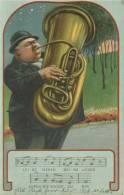 PRÄGEDRUCK  Mann Mit Blasinstrument  Leise Flehen Meine Lieder 1906 - Ansichtskarten