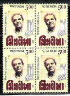 INDIA, 2011, Chitralekha, Gujrati Weekly And Vaju Kotak (Journalist), Block Of 4,  MNH, (**) - India