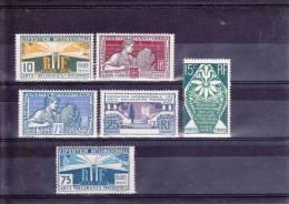 1924 - YVERT N°210/215 * - COTE = 28 EUR. - CHARNIERE LEGERE - France