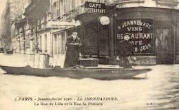 PARIS INONDATIONS La Rue De Lille Et La Rue De Poitiers TBE - La Crecida Del Sena De 1910
