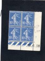 France :bloc De 4 TP Avec Coin Daté N°279 - 1930-1939