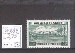 Belgique : N° TR 294 * Cote COB :2,75 €  . Trace De Charnière + Adhérences - Spoorwegen