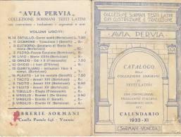 $3-2387- Calendarietto Semestrino 1933 - Sormani - Venezia - Avia Pervia - Calendari