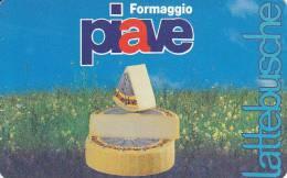 CALENDARIETTO PLASTIFICATO  PUBBLICITARIO FORMAGGIO PIAVE 1996 - Calendari