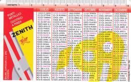 CALENDARIETTO PLASTIFICATO  PUBBLICITARIO -CUCITRICI A PINZA ZENITH ANNO 1999 - Calendari