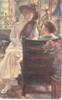 F. M. BREDT LESBIAN CADRE PEINTURE 1900s OLEOPLST OLGEMALDE NR. 635 RARE ESTOLA DE VISON - Illustratoren & Fotografen