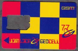 Georgia Geosell GSM SIM Card NO Chip OLD TYPE Rare!!! - Georgië