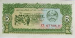 Laos - 5 Kip  -  Uncirculated - Laos