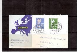 Yv.421/22 Sur FDC - EUROPA 1958 - Ohne Zuordnung