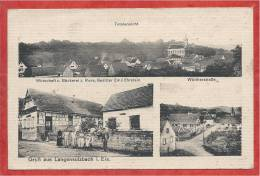 67 - GRUSS Aus LANGENSULZBACH - LANGENSOULTZBACH - Wirtschaft - Bäckerei - Totalansicht - France