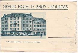 Grand Hôtel Le Berry à Bourges (Cher). Vue Extérieure Et Vues Du Palais Jacques Cœur, L'Yèvre, Cathédrale, Noirlac - Unclassified