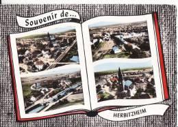 ´*** 67 - HERBITZHEIM - Souvenir De.... Herbitzheim - Multivues *** CPSM Ecrite  Edts LAPIE - France