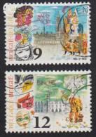 1986 - BELGIË/BELGIQUE/BELGIEN - Y&T 2200/2201 - Aalst & Binche - Belgien