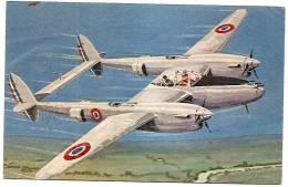 Le Lightning De L'aviation Française, CP Dessinée Années 1940-50 - Avions
