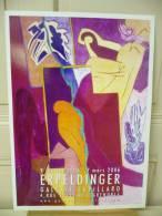 ERPELDINGER, Femme (abstrait),  Affiche De Galerie, 2006, Sur Papier Fort Glacé,  Totalement Neuve - Affiches