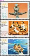 GERMAN DEMOCRATIC REPUBLIC, DDR, 1980, Summer Olympic Games, Moscow, MNH (**); Sc./Mi. 2098-99, B190 / 2503-05 - Ete 1980: Moscou