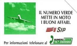 *ITALIA - SIP: NUMERO VERDE AEREO* - Scheda Usata (variante 346c) - Italie