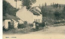 Emael - Paysanne Et Sa Vache Et Masure -1908 ( Voir Verso ) - Bassenge