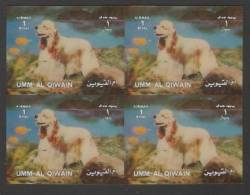 Umm Al Qiwain (1972) 3D - Block Of 4 -   /  Dogs - Perros - Hunde - Chiens - Hunde