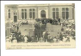 """CPA 28 Nogent Le Roi - Remise Du Drapeau à La """"Tricolore Nogentaise"""" - Cérémonie Présidée Par M. Viollette - Sonstige Gemeinden"""